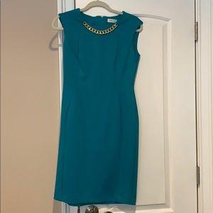 Cute professional turquoise dress